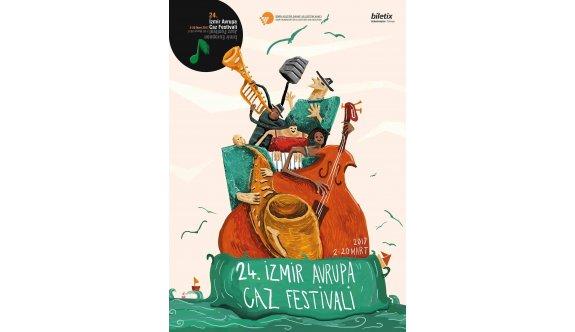 15. Caz Afişi Yarışması ikincilik  ödülü  Anadolu Üniversitesi'ne