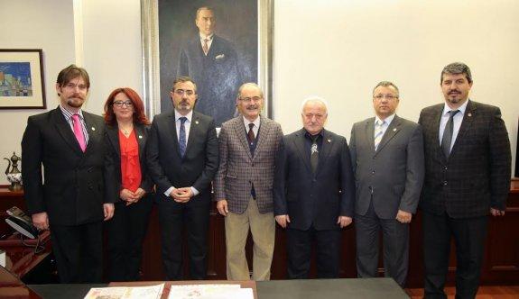 Emekli Astsubaylar'dan Büyükerşen'e ziyaret