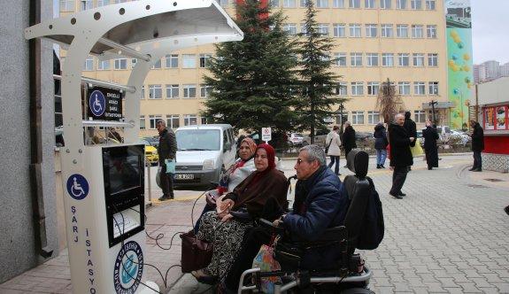 Engelli araç şarj istasyonları hazır