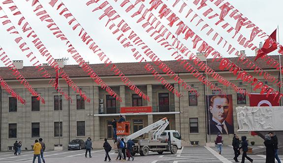 Cumhurbaşkanı Erdoğan için hazırlıklar sürüyor