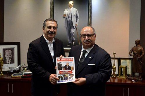 Kamu-Der Genel Başkanı, Ataç'ı ziyaret etti
