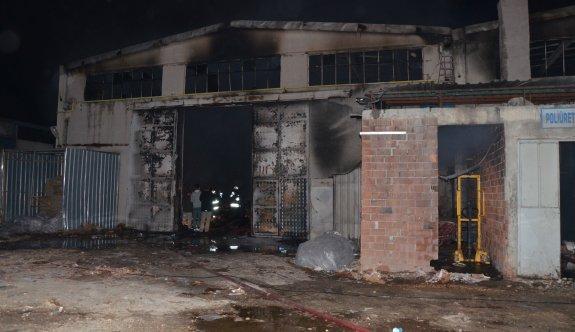 Fabrikada yangın maddi hasara neden oldu