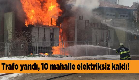 Kumlubel'de trafo yangını korkuttu