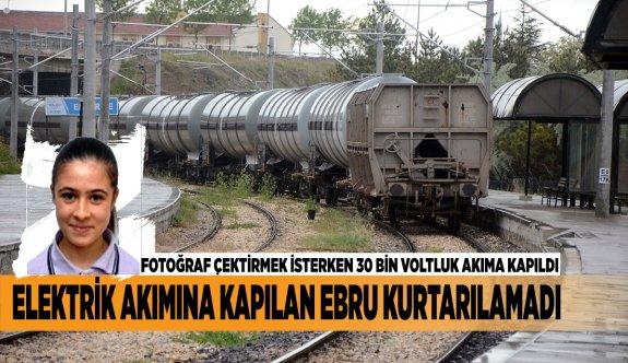 ELEKTRİK AKIMINA KAPILAN EBRU KURTARILAMADI