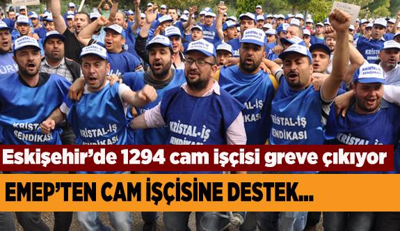 EMEK'TEN CAM İŞÇİSİNE DESTEK
