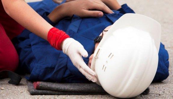 4 metreden yere düşen işçi ağır yaralandı