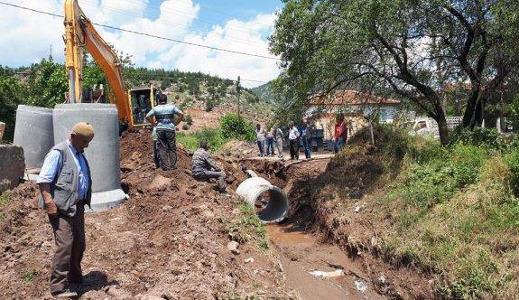 Sel baskını yaşanan ilçelerin altyapısı güçlendiriliyor