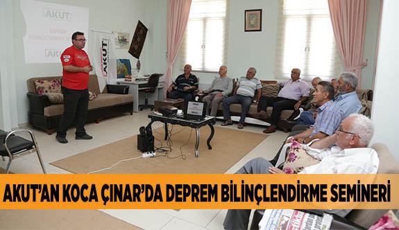 AKUT'AN KOCA ÇINAR'DA DEPREM BİLİNÇLENDİRME SEMİNERİ