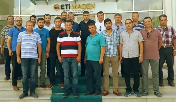 Eti Maden Kırka Bor İşletme Müdürü Ayten'e çalışanlardan anlamlı kutlama