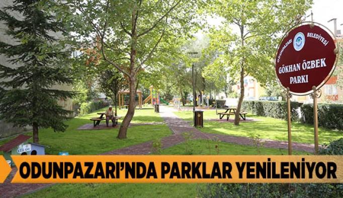 ODUNPAZARI'NDA PARKLAR YENİLENİYOR