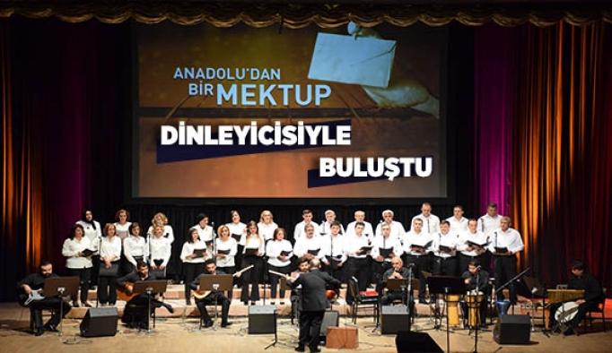 """""""Anadolu'dan Bir Mektup"""" adlı Türk halk Müziği konseri dinleyicilerle buluştu"""