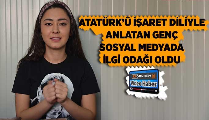 Atatürk'ü işaret diliyle andı