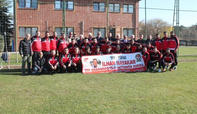 C Lisans Futbol Antrenörlük kursu tamamlandı