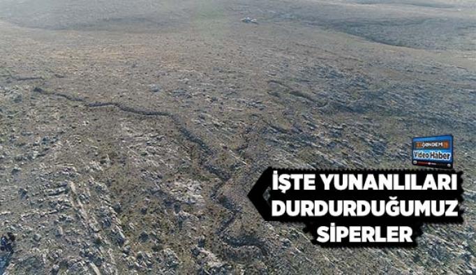 Eskişehir'in Çifteler ilçesinde bulunun Kurtuluş Savaşına ait siperler böle görüntülendi