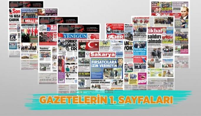 GAZETELERİN BİRİNCİ SAYFASI