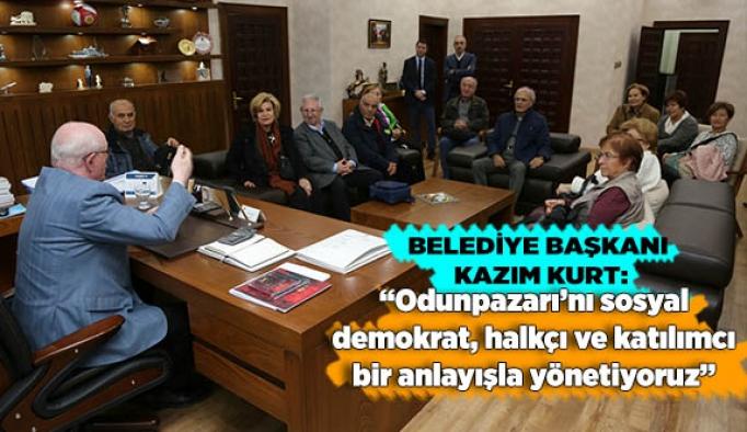 Odunpazarı'nı sosyal demokrat, halkçı ve katılımcı bir anlayışla yönetiyoruz