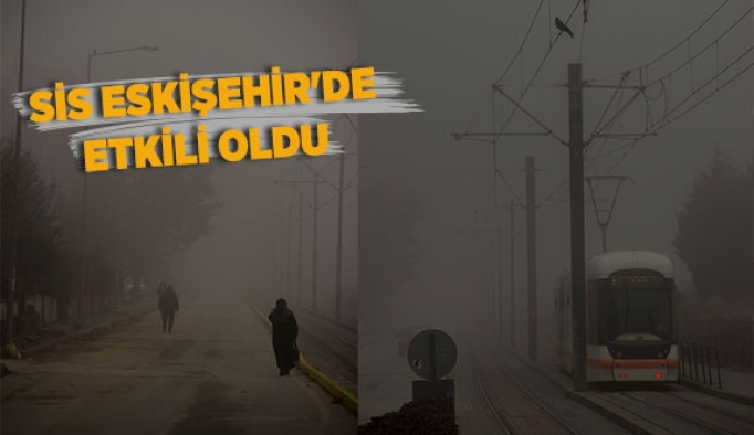 Sis Eskişehir'de etkili oldu