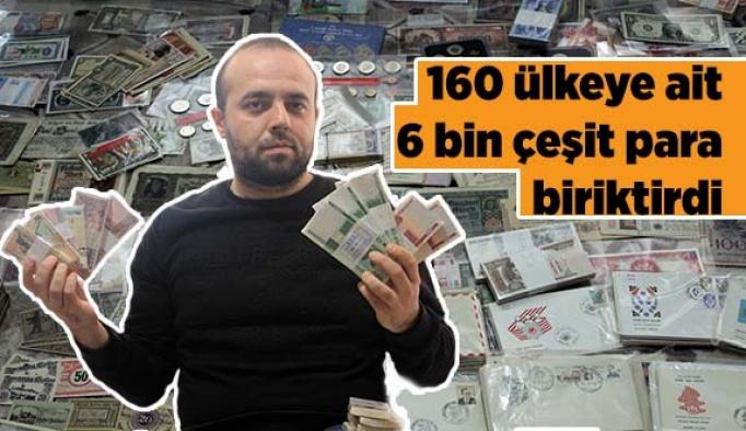 160 ülkeye ait 6 bin çeşit para biriktirdi