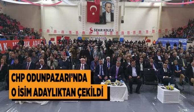 CHP ODUNPAZARI'NDA O İSİM ADAYLIKTAN ÇEKİLDİ