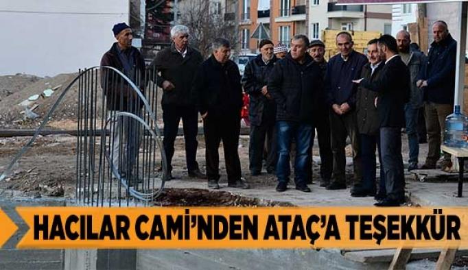 HACILAR CAMİ'NDEN ATAÇ'A TEŞEKKÜR