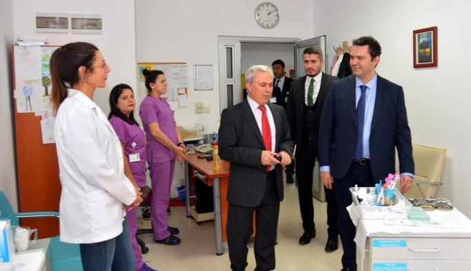 İl Sağlık Müdürü Bilge, Ağız ve Diş Hastanesi'ni ziyaret etti