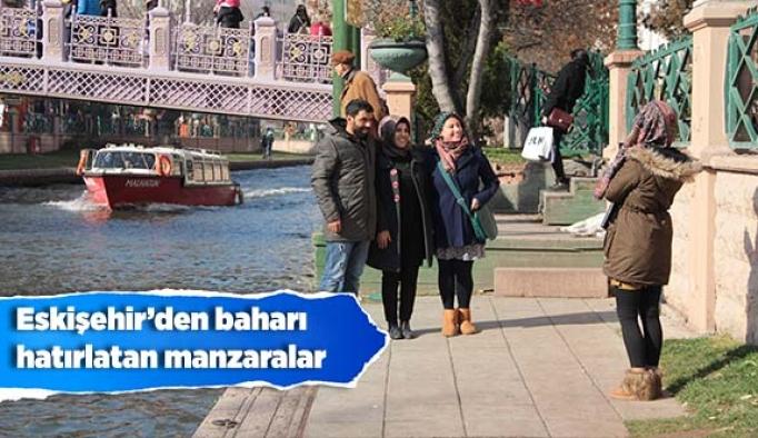 Kışa hazırlanan Eskişehir'den baharı hatırlatan manzaralar