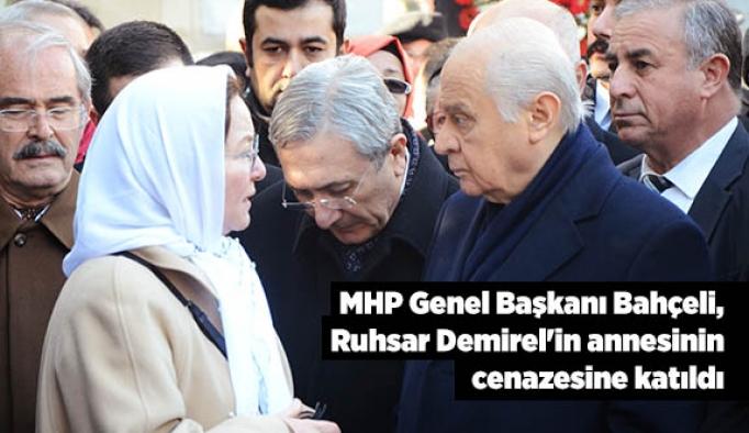MHP Genel Başkanı Bahçeli, Ruhsar Demirel'in annesinin cenazesine katıldı