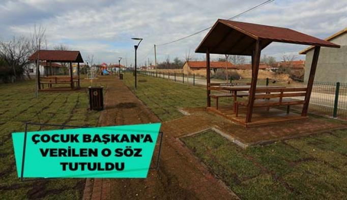 Odunpazarı Belediyesi Çocuk Başkan Beyzanur'a verdiği sözü tuttu