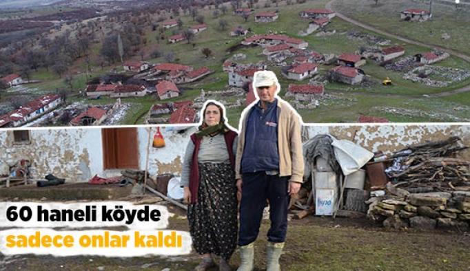 60 haneli köyde sadece onlar kaldı