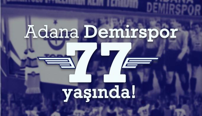 Adana Demirspor 77. yılını kutluyor