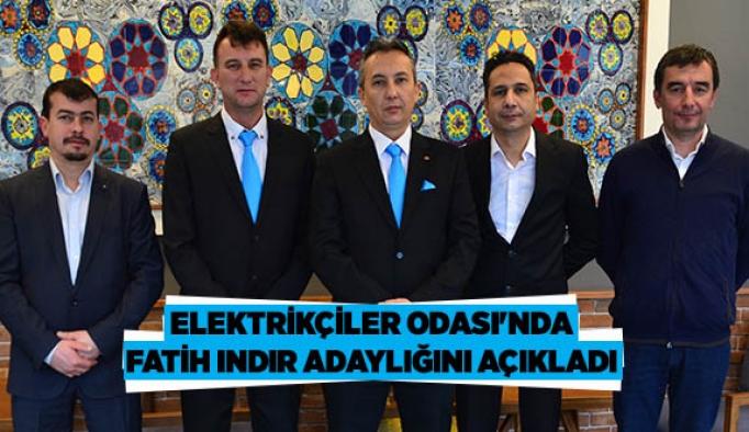 Elektrikçiler Odası'nda Fatih Indır adaylığını açıkladı