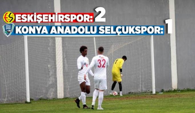 Eskişehirspor: 2 - Konya Anadolu Selçukspor: 1