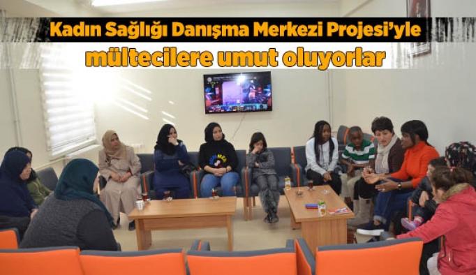 Kadın Sağlığı Danışma Merkezi Projesi mültecilere umut oluyorlar
