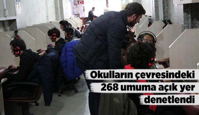 Okulların çevresindeki 268 umuma açık yer denetlendi