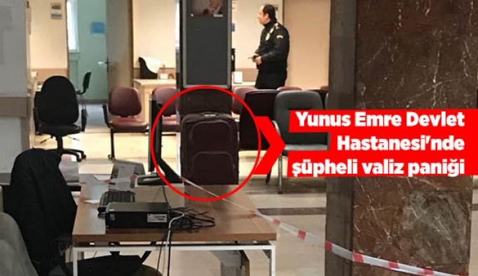 Yunus Emre Devlet Hastanesi'nde şüpheli valiz paniği