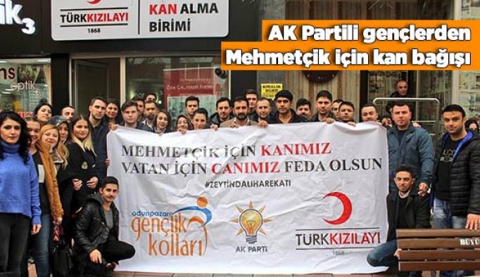 AK Partili gençlerden Mehmetçik için kan bağışı
