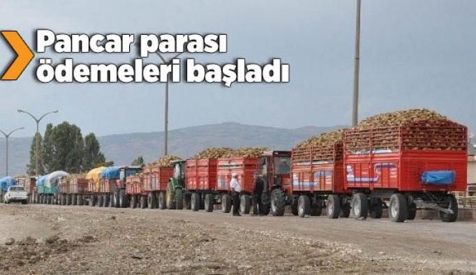 Eskişehir'de pancar parası ödemelerine başlandı