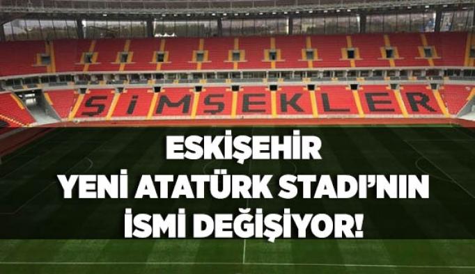 """Eskişehir'deki yeni stadın adı """"ETİ"""" oluyor"""