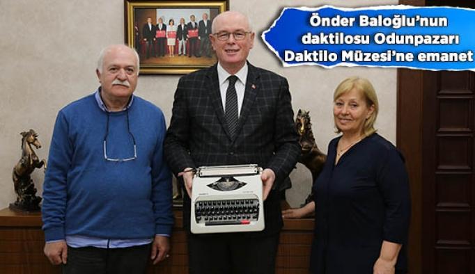 Önder Ağabey'in daktilosu Odunpazarı'na emanet