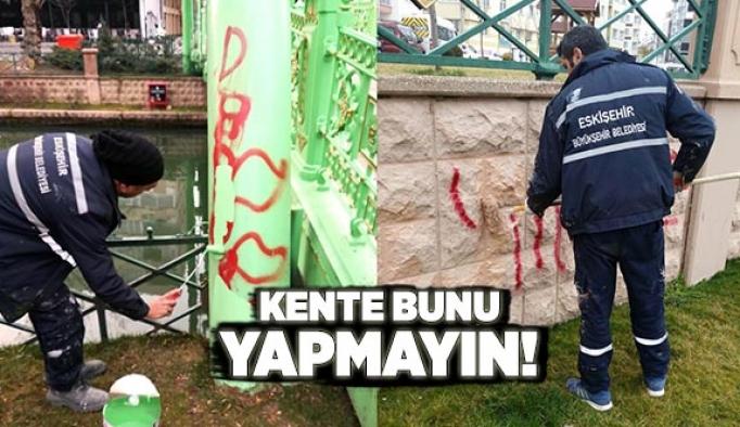 PORSUK KENARINDA SPREY BOYA ÇİRKİNLİĞİ!
