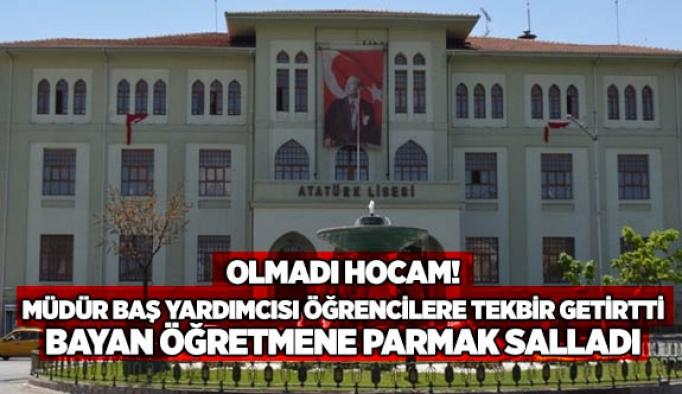 Atatürk Anadolu Lisesi'nde tepki çeken tören