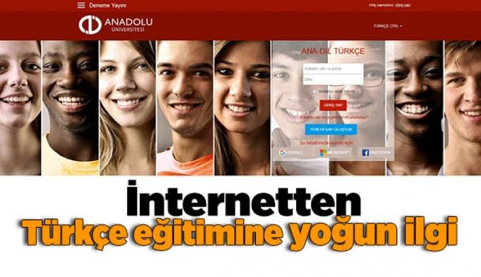 İnternetten Türkçe eğitimine yoğun ilgi