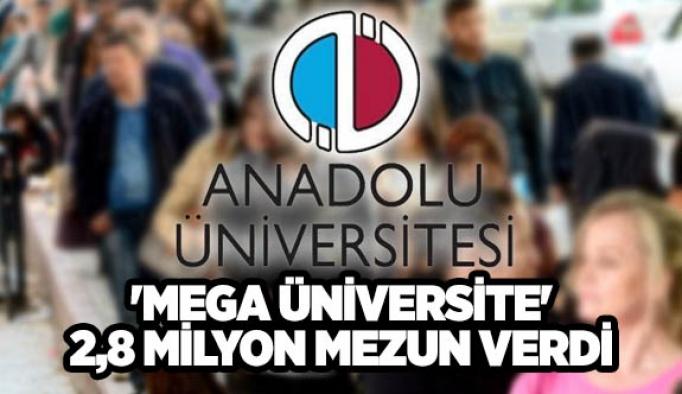 'Mega üniversite' 2,8 milyon mezun verdi