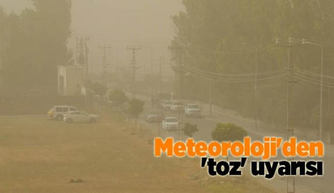 Meteoroloji'den 'toz' uyarısı