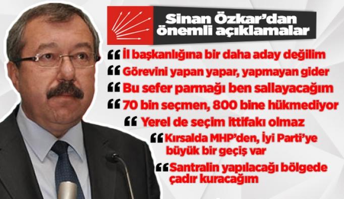 Sinan Özkar: İl başkanlığına bir daha aday değilim