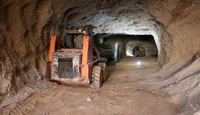 Teröristlerin Afrin'deki tünelleri ortaya çıktı