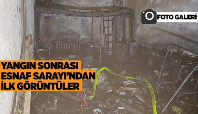Yangın sonrası Esnaf Sarayı'ndan ilk görüntüler