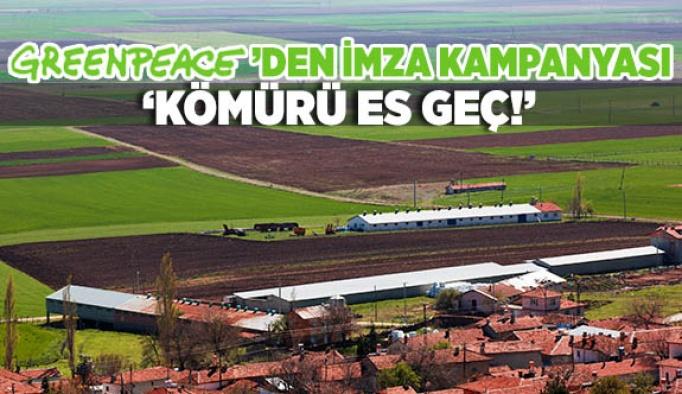 Greenpeace'den 'Kömürü Es Geç!' kampanyası