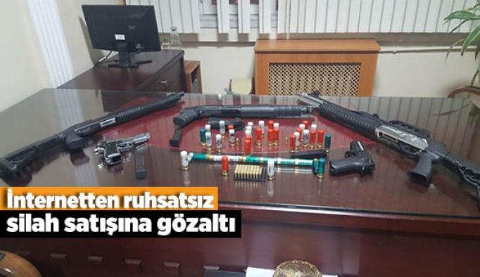 İnternetten ruhsatsız silah satışına gözaltı