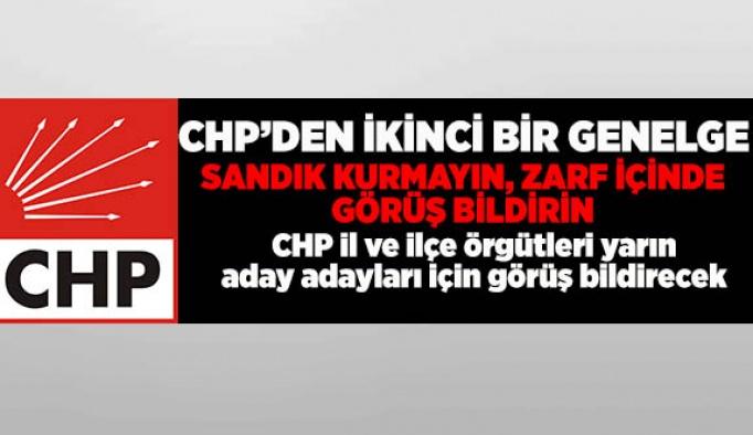 CHP'DEN YENİ GENELGE